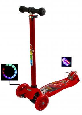 Самокат Maxi Scooter Disney Тачки Молния Маквин -фото