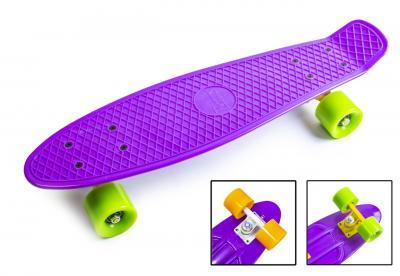 Penny Board. Фиолетовый цвет. Матовые колеса.-фото