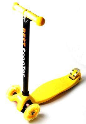 Детский Самокат Maxi Best Scooter  Желтый Колеса Светятся-фото