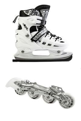 Ролики-коньки Scale Sport. White (2в1), размер 34-37-фото