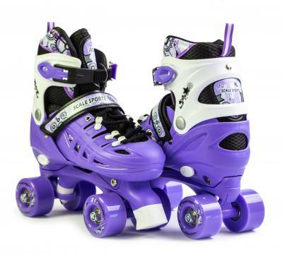 Раздвижные ролики квады Scale Sports фиолетовый цвет 29-33, 34-38-фото