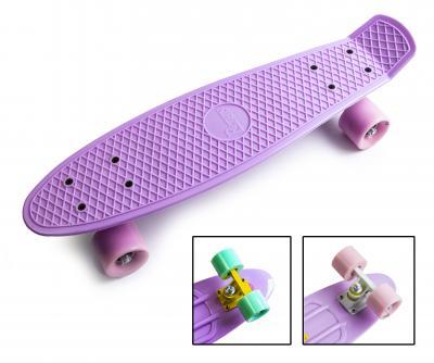 Penny Board. Лиловый цвет. Матовые колеса.-фото