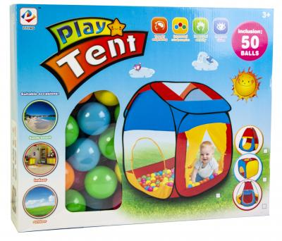 Детская палатка с шариками-фото