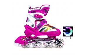 Ролики Scale Sports 907M Pink Малиновые 31-34, 35-38,39-42 -фото