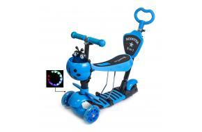 Детский самокат божья коровка 5 в 1 синий-фото