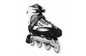Ролики Раздвижные взрослые Scale Sports Черные XL 41-44 80 мм-фото