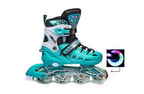 Ролики Scale Sports 905A Бирюзовые Tiffany 31-34, 35-38,39-42 -фото
