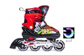 Ролики Scale Sports 907M Черно-Красные 31-34, 35-38,39-42 -фото