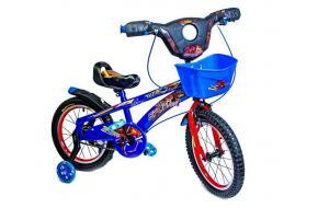 Детский велосипед Spiderman Blue 16 с музыкой и светом-фото