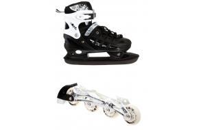 Ролики-коньки Scale Sport. Black (2в1), размер 34-37-фото