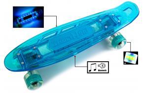 Penny Fish Skateboard с Музыкой и светящиеся декой Синий-фото