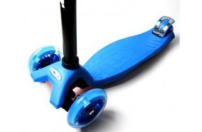 Детский Самокат Maxi Best Scooter Синий Колеса Светятся-фото