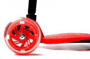 Детский Самокат Maxi Best Scooter Красный Колеса Светятся-фото