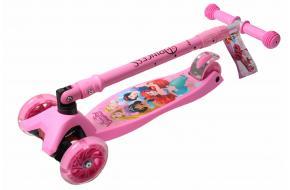 Самокат Maxi   Disney Русалочка Ариэль с наклоном руля складной ручкой -фото
