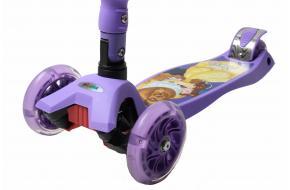 Самокат Scooter Maxi  Disney Beauty  Beast с наклоном руля и складной ручкой -фото