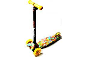 Купить Самокат Детский Maxi Best Scooter c Принтом  Caramel-фото