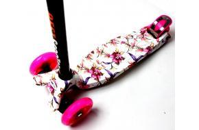 Купить Самокат Детский Maxi Best Scooter c Принтом (Рисунок)  Цветочки-фото