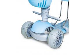 Самокат Scooter Smart 5 в 1 голубой с бортиком -фото
