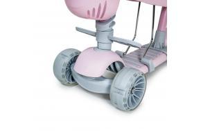 Самокат Scooter Smart 5 в 1 пастельно-розовый с бортиком -фото