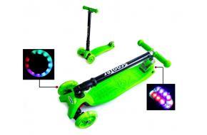 Самокат Maxi цвет Салатовый складной руль-фото