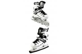 Ролики-коньки Scale Sport. White (2в1), размер 29-33-фото