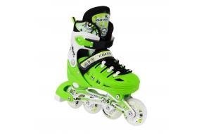 Ролики Раздвижные Scale Sports Салатовые (Зеленые) 31-34,35-38,39-42-фото