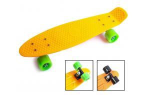 Penny Board. Оранжевый цвет. Матовые колеса.-фото