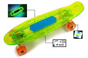 Penny Fish Skateboard с Музыкальной и светящиеся декой Салатовый-фото