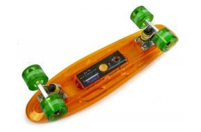 Penny Fish Skateboard с Музыкальной и светящиеся декой Оранжевый-фото