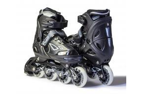 Роликовые коньки раздвижные King Power  Black-фото