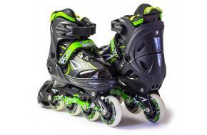Роликовые коньки раздвижные King Power Зеленые-фото