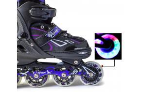 Роликовые коньки раздвижные King Power Фиолетовые-фото