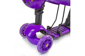 Детский самокат божья коровка 5 в 1 фиолетовый-фото