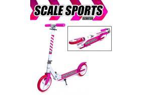 Ролики Раздвижные Scale Sports Малиновые c набором защиты-фото