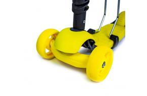 Самокат Smart 3in1. Желтый цвет.-фото