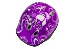 Шлем Фиолетовый цветочки -фото