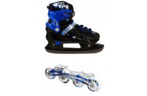 Раздвижные ледовые коньки 2 в 1 Scale Sports Neo X DUO Синие-фото