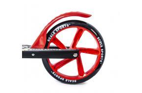 Самокат Scale Sports SS-15 двухколесный колеса 200 мм Красный-фото