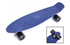 Penny Board. Темно-синий цвет. Матовые колеса.-фото