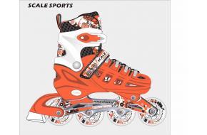 Ролики Раздвижные Scale Sports Оранжевые  31-34,35-38,39-42-фото