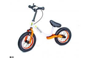 Велобег Scale Sports. Бело-оранжевый цвет.-фото