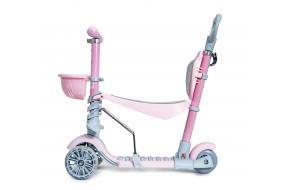 Самокат Scooter Smart 5 в 1 пастельно-розовый -фото